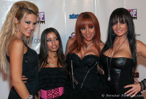 Lupe Fuentes, jessica drake, Kirsten Price, Alektra Blue at F.A.M.E. Awards