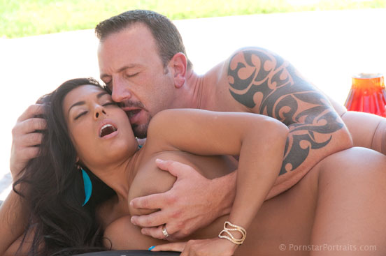 Nina Mercedez and Raymond Balboa on the set of Intimate Encounters for Adam and Eve Pictures