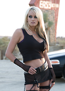 Stormy Daniels on the set of Predator 3 for Wicked Pictures