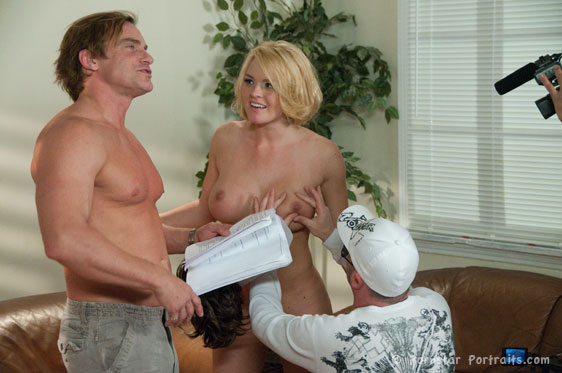 Krissy Lynn, Evan Stone, Anton Slayer On The Set of Taxi: A Hardcore Parody