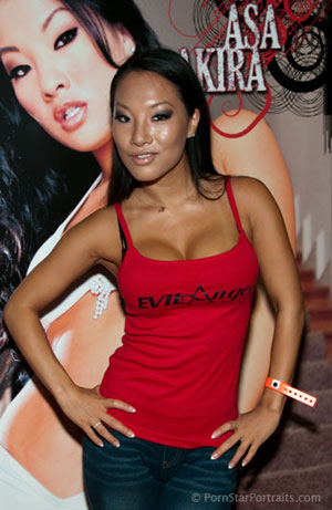 Asa Akira at the Los Angeles eXXXotica Expo for Evil Angel Image Courtesy of Michael Saint