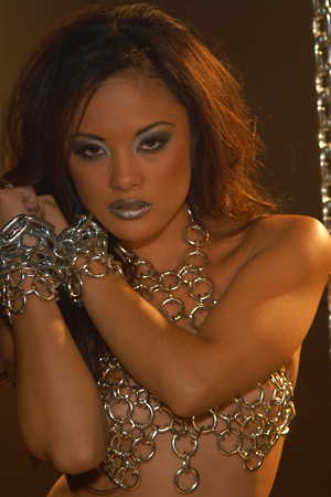 Kaylani Lei on the set of Kaylani Unleashed for Wicked Pictures