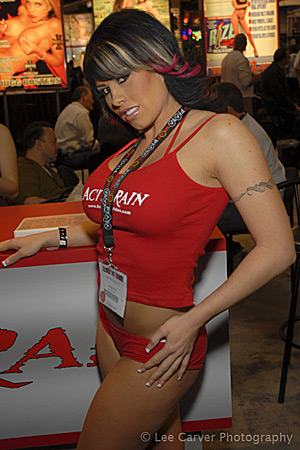 Brooke Haven at the 2007 Adult Entertainment Expo for Acid Rain Image Courtesy of Michael Saint