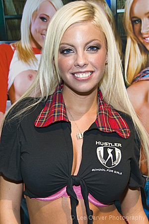 Britney Amber at the 2009 Adult Entertainment Expo for Hustler Video Image Courtesy of Michael Saint