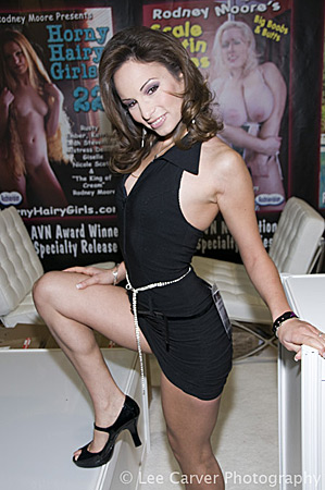 Amber Rayne at the 2009 Adult Entertainment Expo for Rodney Moore Image Courtesy of Michael Saint