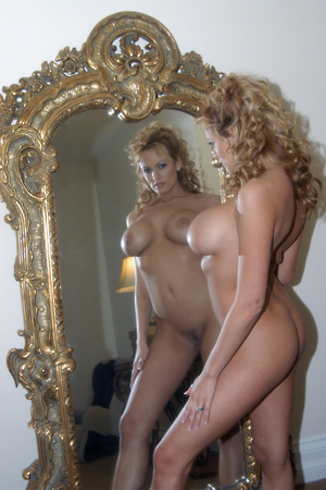 Stormy Daniels on the set of The Portait for Wicked Pictures